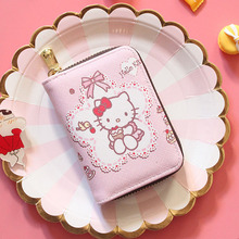 6873cb4e2 Mcneely hello kitty Design Women Zipper Clutch Wallet Passport ID Business  Card Case Organizer Bag Card
