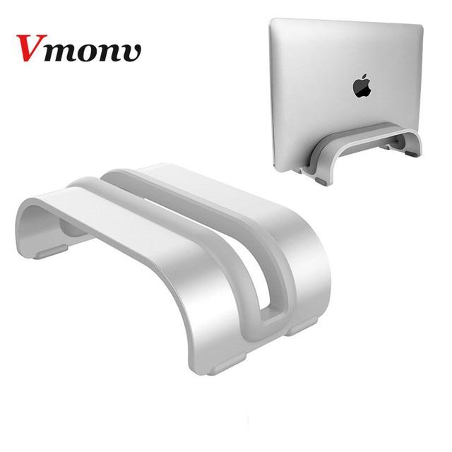 Vmonv אלומיניום סגסוגת מחשב נייד הר Stand עבור Macbook Acer Dell Lenovo אנכי בסיס סוגר משרד מחשב נייד מחברת קירור Stand