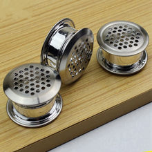 10set Stainless steel double-sided adjustment vent cover furniture Air Vent Louver ventilator grille cover for Shoe cabinet(China)