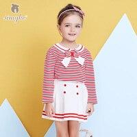 Simyke 2018New סט 2 יחידות עבור פסי ילדה בנות להתלבש סטים חולצה + חצאית אביב פעוטה סט בגדי ילדים W3790