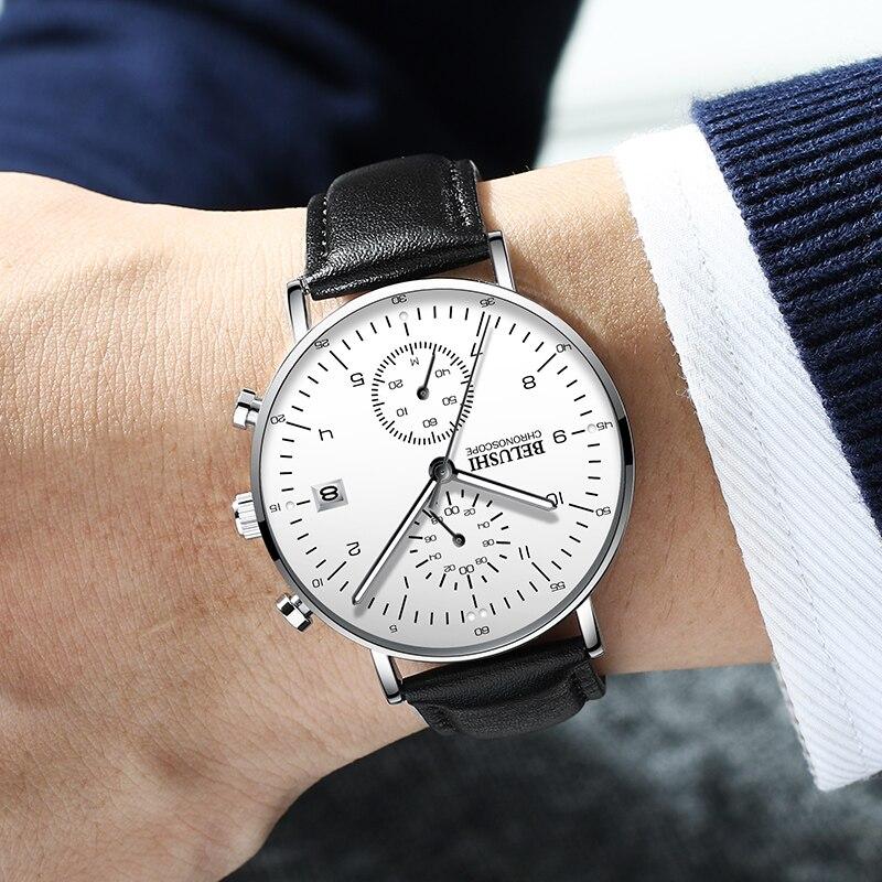 Chronograph Fashion Quartz Calendar Watch Men Watches Top Brand Luxury Male Clock Business Mens Wrist Watch Hodinky Relogio