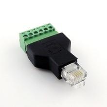 1x Ethernet 6P6C RJ12 Nam Cắm Modular 6Pin Vít Thiết Bị Đầu Cuối Kết Nối Bộ Chuyển Đổi Điện Thoại Bộ Chuyển Đổi Dòng