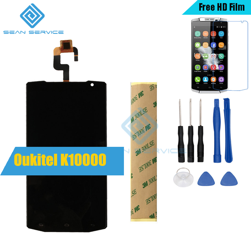 Für Oukitel K10000 Original LCD Display + Touchscreen Digitizer Assembly + Tools K10000 Quad Core 5,5 Zoll Telefon LCD Display Lager