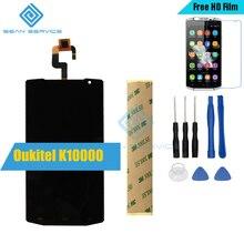 Для Oukitel K10000 Оригинальный ЖК-Дисплей + Сенсорный Экран Digitizer Ассамблеи + Инструменты K10000 Quad Core 5.5 Дюймов Телефон LCD дисплей Акции