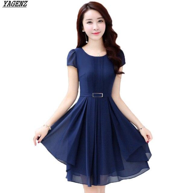 Solid Chiffon Dresses
