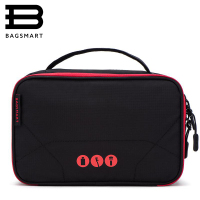 BAGSMART Women Large Waterproof Makeup Bag Men Nylon Travel Cosmetic Bag Organizer Case Necessaries Make Up