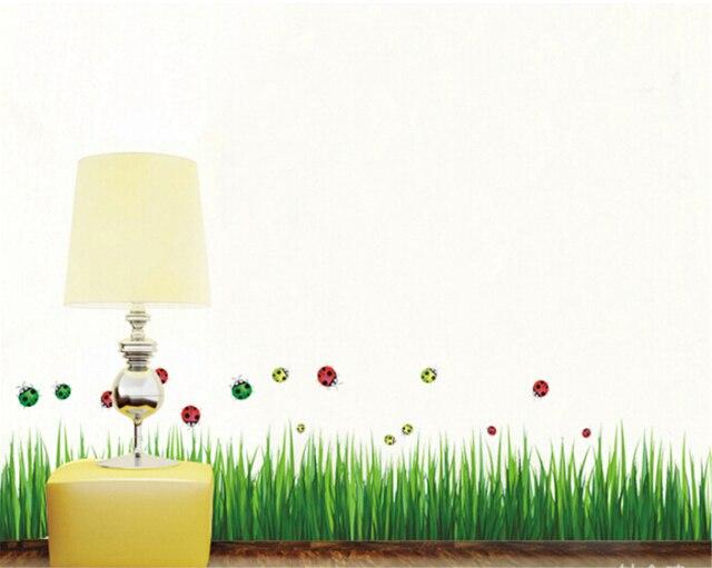 green grass butterfly vinyl wall stickers for kids rooms children