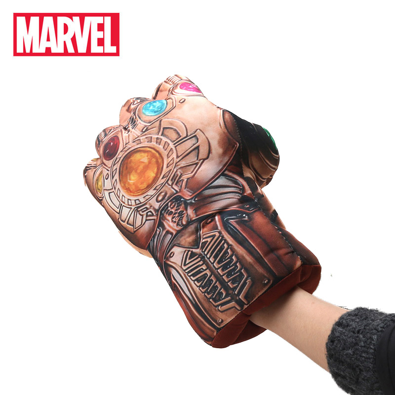 16*30cm Marvel Toys Anime Avengers 3 Infinity War Thanos Plush Gloves Cosplay Halloween Prop Costume Plush Infinity Gauntlet(China)