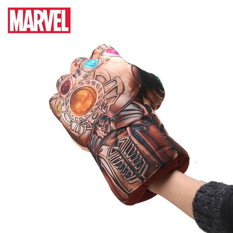 16*30cm Marvel Toys Anime Avengers 3 Infinity War Thanos Plush Gloves Cosplay Halloween Prop Costume Plush Infinity Gauntlet