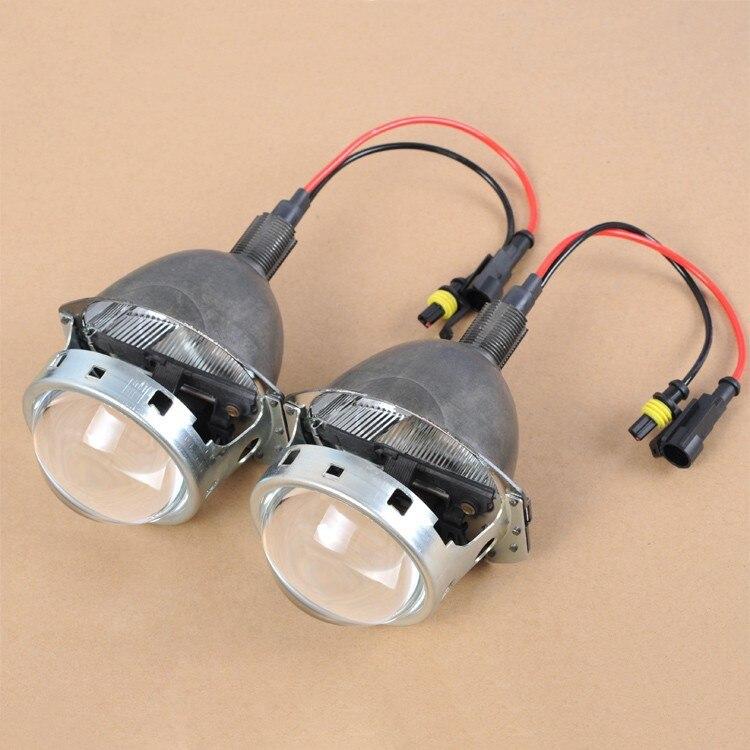 Phare Kit 3.0 pouce BI-XENON Q5 HID Projecteur Objectif H4 H7 9005 9006 Prise Avec Ampoule Haute Luminosité