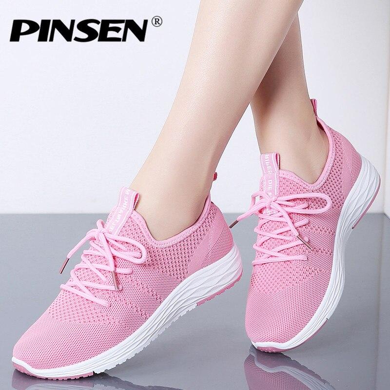 new product f73e2 4cada Mujeres Pink Casuales Zapatillas Men La Deporte White Zapatos Pinsen  vwpqpIF1