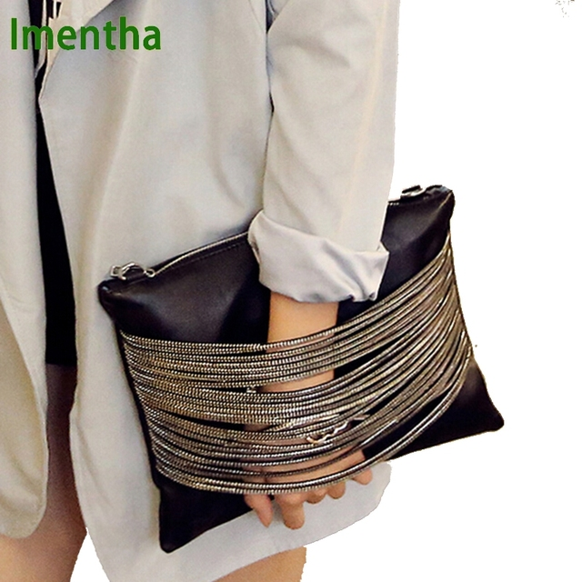 High quality clutch bag 2017 women bag female women evening clutch bags black women leather handbags purses envelope day clutch