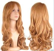 Blonde Hair Gorgeous Ladies Long Curly Fancy Dress Full Wig Wigs