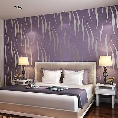 Aliexpress Com Buy 53 10 Bedroom 3d Flocking Waves Non Woven Embossed Textured Wallpaper Home Decor From Reliable Wallpaper Apartments Suppliers On