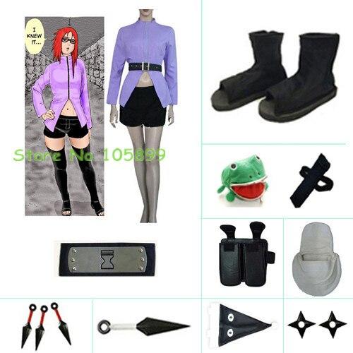 Karin Halloween font b Cosplay b font Costume set from font b Naruto b font