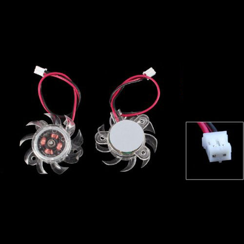 3 x 35mm 12V Clear Plastic Computer VGA Video Cooler Card Cooling Fan 2016 New image