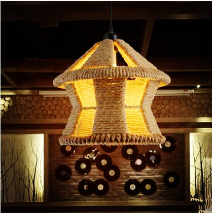 American Loft Style Retro Rope Lamp Edison Vintage Lamp Industrial Pendant Lighting Fixtures Luminaire Handing Light Lamparas nordic bamboo rope loft style vintage industrial lighting wood pendant light fixtures edison homeing lighting lamparas