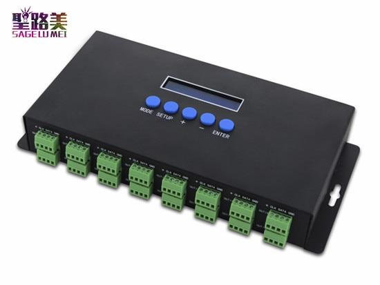 BC 216 DC5V 24V 16 channels Artnet to SPI DMX pixel light LED controller Two port