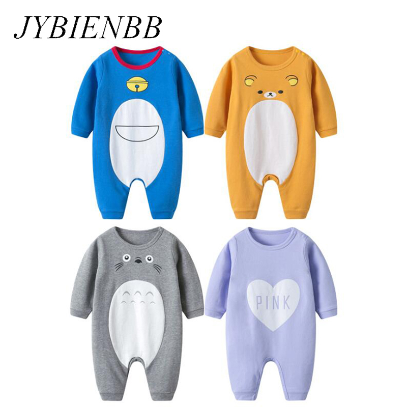 Baby Anime Rilakkuma Doraemon Totoro Cotton Pajamas Clothes Newborn Infant   Romper   Onesie Cartoon Babysuit Outfit Jumpsuit Autumn