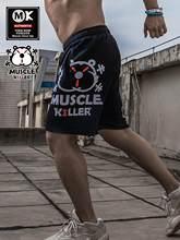 Muscular assassino novo homens de fitness shorts de corrida treinamento de combate casual logotipo popular verão cinco minutos-calça fina