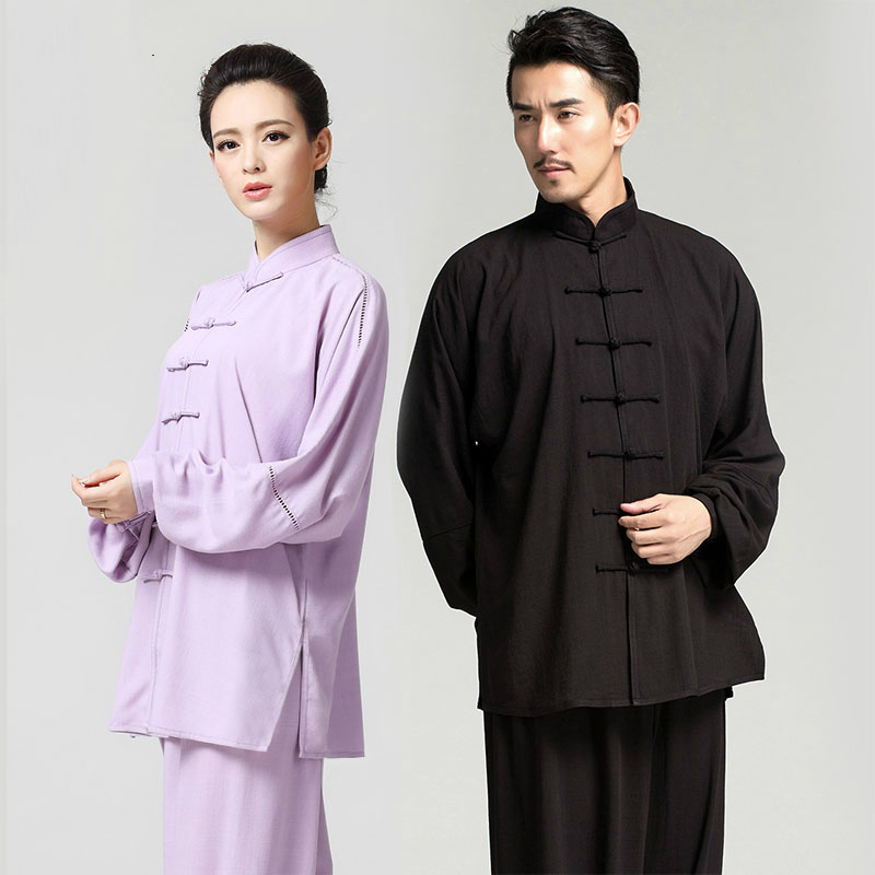 Linen Cotton Long Sleeved Martial Arts Clothes And Tai Chi Clothing New