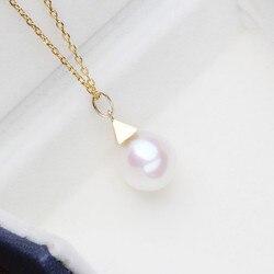 Luxus echtem G14K Gold Zubehör Mode Perle Anhänger Einstellungen Erkenntnisse Anhänger Halterungen Frauen Zubehör Weibliche Jewwelry