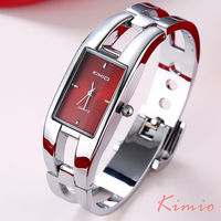 Kimio Woman Watches 2015 Brand Luxury Rectangle Stainless Steel Bracelet Watch For Women Dress Quartz Watch