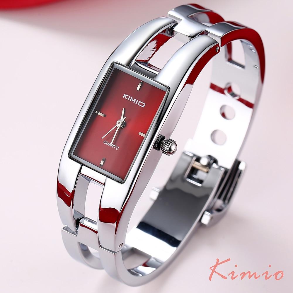 KIMIO Rectangle Hand Ring Bracelet Woman's Watch Ladies Watch Luxury Brand Dress Quartz Watch Wrist Watches For Women Clock Sale