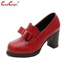 ผู้หญิงชี้นิ้วเท้ารองเท้าส้นสูงรองเท้าผู้หญิงแพลตฟอร์มส้นหนาปั๊มออกแบบใหม่R Etro Bowtieส้นรองเท้าขนาด35-39 Z00265