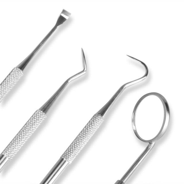 4pc Dental Hygiene Tool Kit Dentist Tartar Scraper Scaler Dental Equipment Calculus Plaque Remover Teeth Cleaning Oral Care Tool