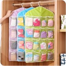 5pcs storage bag polyster PE toys box bags clothes socks organizer washable clothing hanging bag makeup organizer sundries box