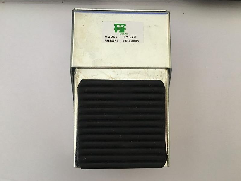 FV-320 Foot Pressure Control 12mm Threaded Air Pneumatic Pedal Valve цена и фото