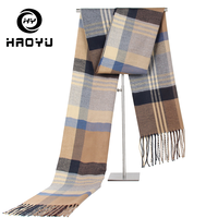 Scarf Men Plaid Cashmere Shawl Long Colorful Plaid Brand Scarf Winter Official Male Warm Neckerchief With Tassle 180cm