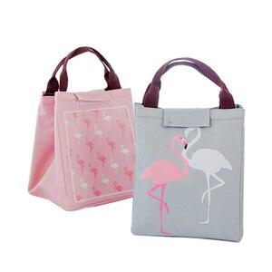 Image 3 - Junejour Neopreen Lunch Tas Voor Kinderen School Waterdichte Lunchbox Oxford Flamingo Draagbare Lunch Tas Tote Handtas Voedsel Container