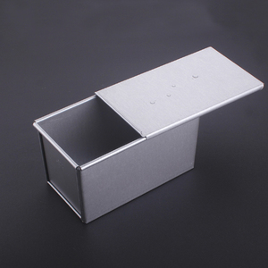 Image 2 - 250g/450g/750g/900/1000/1200g Aluminum Alloy Toast boxes Bread Loaf Pan cake mold baking tool with lid