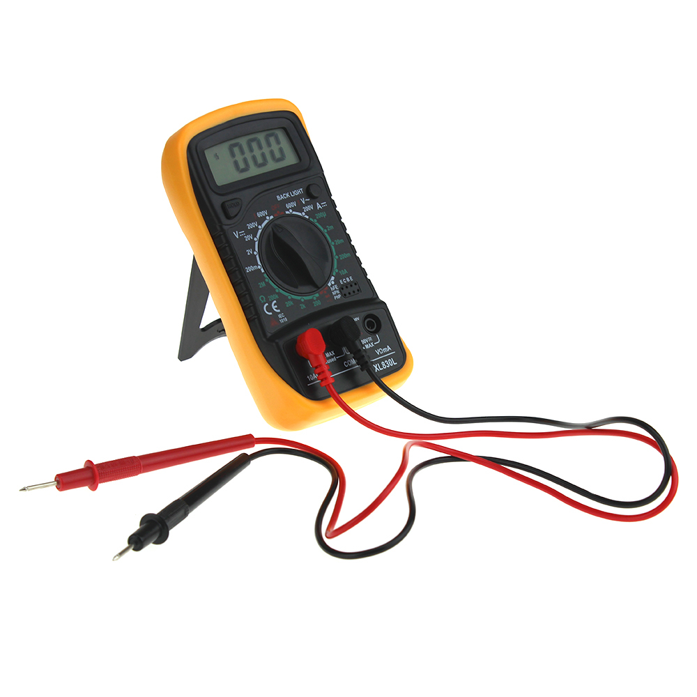 XL830L New Handheld Counts With Temperature Measurement Backlight LCD Digital Multimeter Tester Without Battery