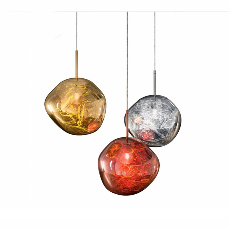 Modern Dixon Melt Glass Pendant Light Replica Pendant Lamp Gold Copper Silver Glass Lava Mirror Hanging Industrial Decor Pa0219 Pendant Lights Aliexpress