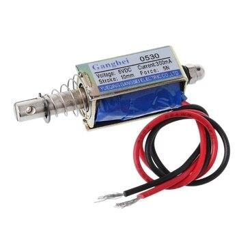 цена на 1PC JF-0530B DC 6V 12V Magnetic Push-Pull Type Frame DC Solenoid Electromagnet