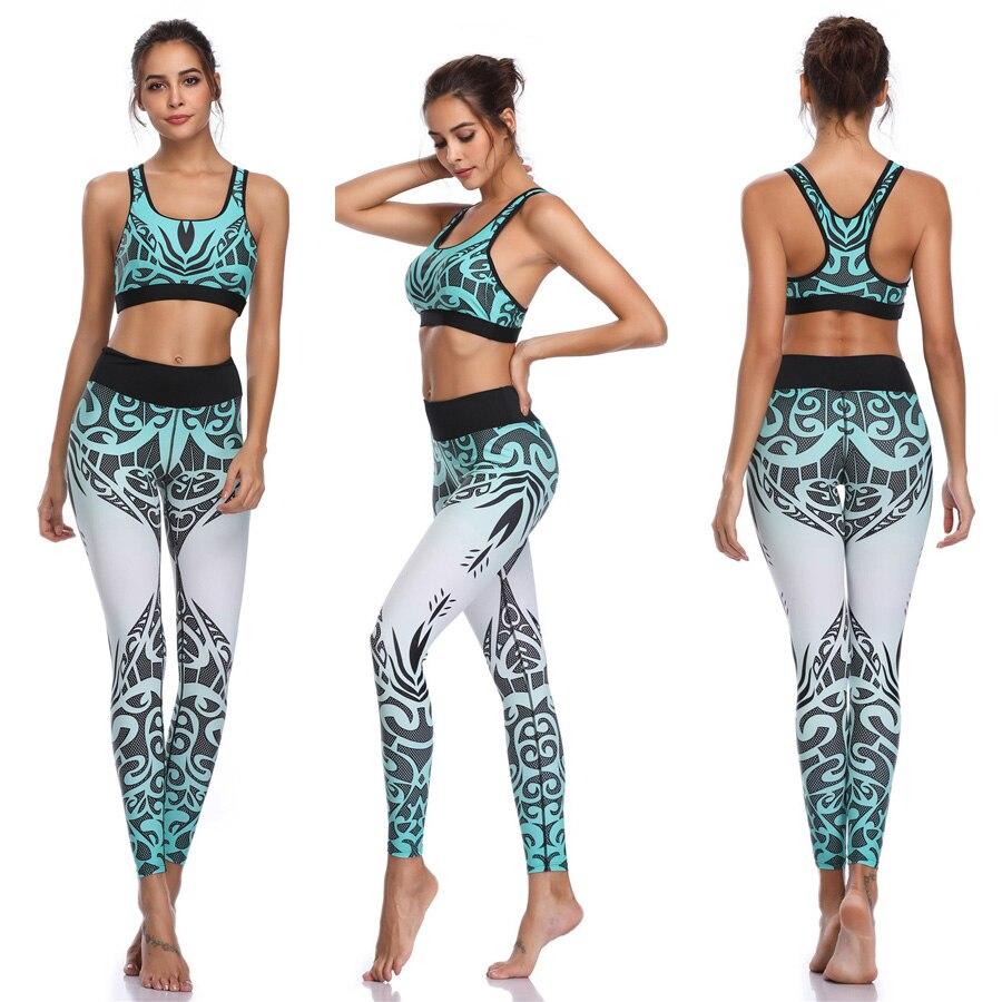 Women Sport Suit Fitness Workout Yoga Backless Gym Set Running Sportswear Set Tight Leggings Overalls Workout Sportswear in Yoga Sets from Sports Entertainment