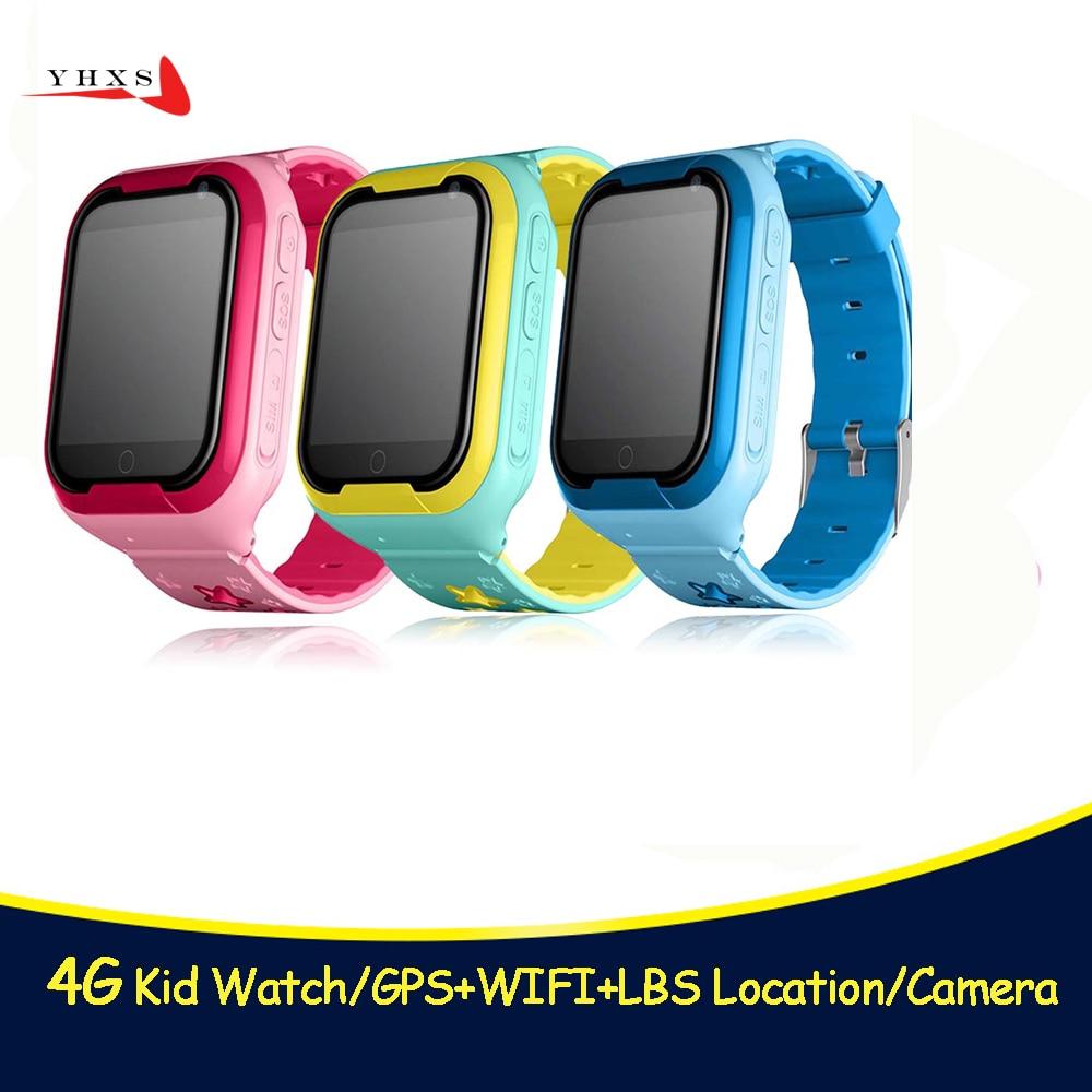 Montre Smart Watch Enfant en Toute Sécurité Moniteur GPS Tracker Enfants Android IOS Étanche Bébé SOS À Distance Moniteur Caméra SIM 4g Réseau montre-bracelet