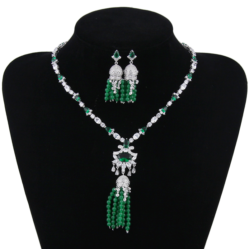 Gorgeous Simulated Pearl Bridal Jewelry Sets Crystal Flower Necklace Earrings Sets Wedding Jewelry Sieraden Sets AS121 classical malachite green round shell simulated pearl abacus crystal 7 rows necklace earrings women ceremony jewelry set b1303