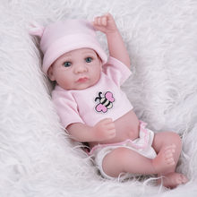 Reborn Baby Dolls Baby Boneca Reborn Toys for Children 10 inch Full Silicone Lifelike Mini Dolls Realistic Playmate(China)