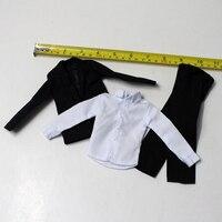 1/6 Male Suit Set Models Coat Pants and T shirt for 12''Action Figures