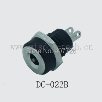 Free shipping 500pcs/lot DC jack /power socket terminal /DC connector with screw nut DIP 1.3X3.5mm
