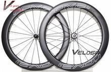 R0val clx64 bicicleta wheelset del carbón, 60 mm clincher / tubular, 700C rueda de bicicleta de carretera, gran forma de U llanta