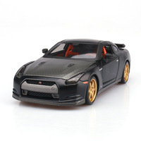 1:24 Simulation alloy sports car model toy For Toyota GTR with Steering wheel control front wheel steering toy for Children