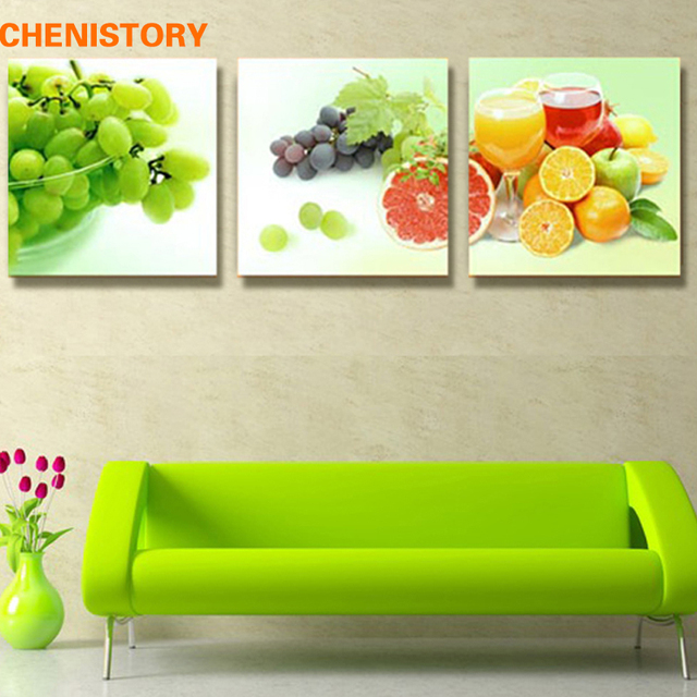 Unframed 3 Panel Grapes Fruit Modern Print Canvas Painting Home Wall ...