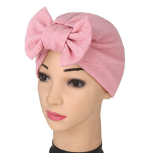 New  Women big bow Headband Updated Version Hat Soft Cute Turban Knotted hair band