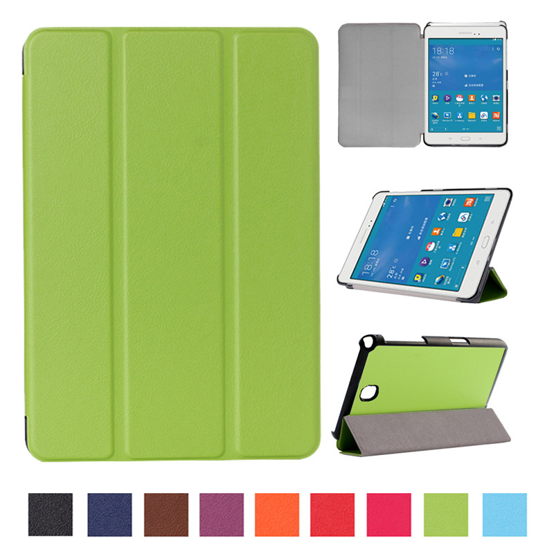 Smart Magnetic Tablet Case For Samsung Galaxy Tab A 8.0 T350 T355 T351 SM-T350 SM-T355 Tri-Fold Stand PU Leather Cover Cas