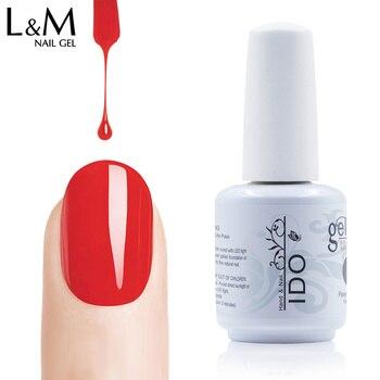IDO 15ML white bottle Soak Off UV/led Nail Gel Polish (22Color Gel+1Base Coat+1Top)24 Pcs High Quality 30 Days beauty Last Long